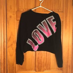 Tops - Electric Pink Brand Love Crop Top